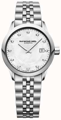 Raymond Weil Wijzerplaat freelancer parelmoer voor dames 5629-ST-97081
