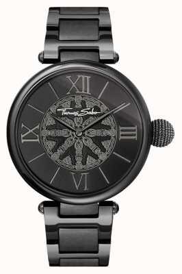 Thomas Sabo Womans karma zwarte ip stalen horloge WA0307-202-203-38