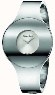 Calvin Klein Womans zilverstaal naadloos horlogemedium K8C2M116