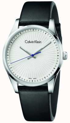 Calvin Klein Unisex standvastig horloge zwart leer K8S211C6