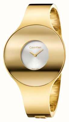 Calvin Klein Womans gouden toon naadloze horloge klein K8C2S516