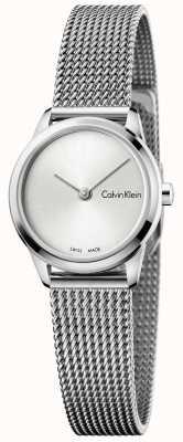 Calvin Klein Dames minimale horloge zilveren wijzerplaat K3M231Y6