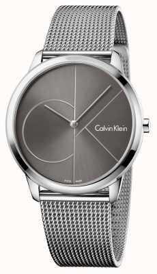Calvin Klein Unisex minimal watch mesh band K3M21123