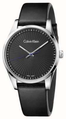 Calvin Klein Menselijke standvastig horloge zwart K8S211C1