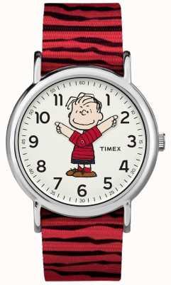 Timex Weekender pinda's Linus rode band TW2R412006B