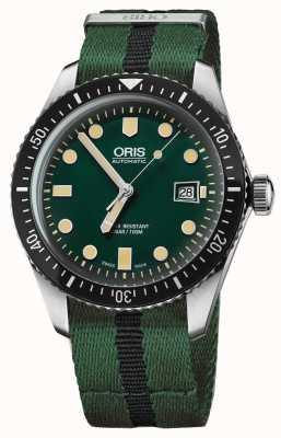 Oris Herenduiker vijfenzestig groene nato band 01 733 7720 4057-07 5 21 25FC