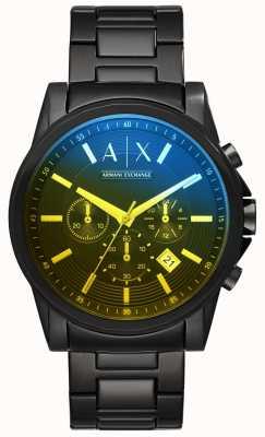 Armani Exchange Mens buitenbanden roestvrij stalen armband AX2513