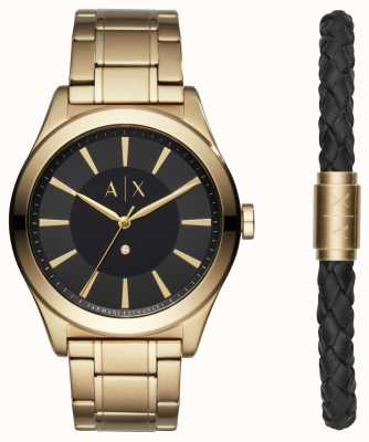 Armani Exchange Mens nico two tone armband geschenkset AX7104