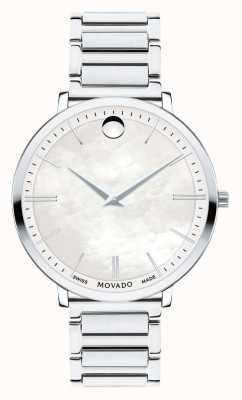 Movado Vrouwen's ultra-slanke roestvrijstalen horloge 0607170