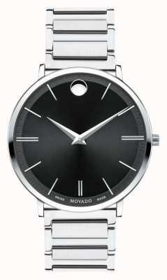 Movado Mens ultra-slanke roestvrij stalen horloge 0607167