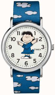 Timex Blauw riem lucy horloge TW2R413006B