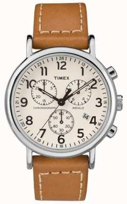 Timex Herenhorloge voor chronograafbruiners in weekendertiguren TW2R42700D7PF