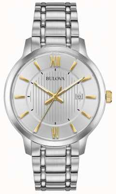 Bulova Mens klassiek roestvrijstalen jurk horloge 98B306