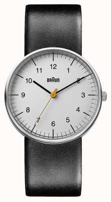 Braun Unisex zwart lederen horloge BN0021BKG
