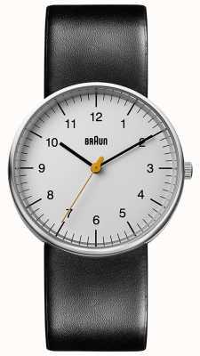 Braun Minimalistisch unisex zwart lederen horloge BN0021BKG