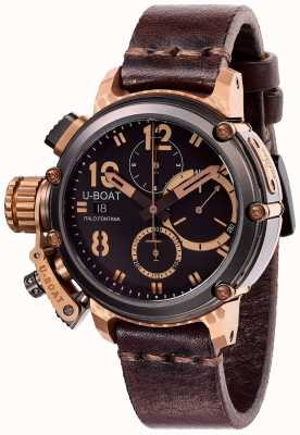 U-Boat Limited edition chimera 43 mm b & b chrono bruin leer 8015