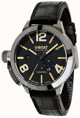 U-Boat Stratos 45 bk automatische zwarte leren riem 9006