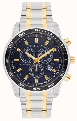 Citizen Eco-drive tweekleurige wijzerplaat herenarmband BL5514-53L