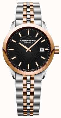 Raymond Weil Womens freelancer quartz horloge two tone armband 5629-SP5-20021