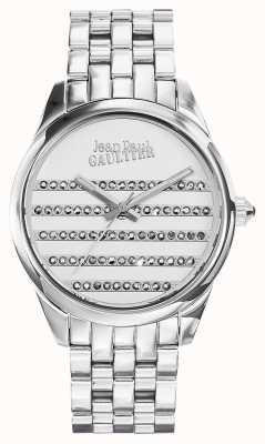 Jean Paul Gaultier Navy roestvrij stalen armband witte wijzerplaat JP8502404