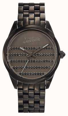 Jean Paul Gaultier Navy gun metalen armband en wijzerplaat JP8502406