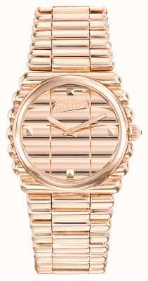 Jean Paul Gaultier Bordeaux cote rose goud pvd armband roségouden wijzerplaat JP8504106