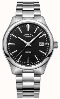 Rotary Heren oxford horloge roestvrij stalen armband GB05092/04