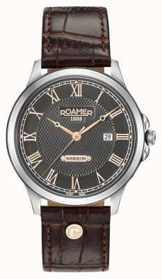 Roamer Heren windsor bruin lederen band 706856410207