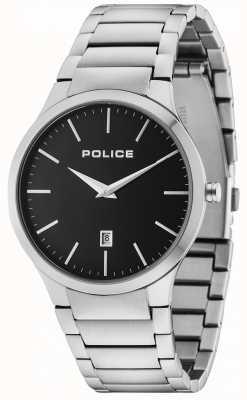 Police Horizon zilveren armband zwarte wijzerplaat 15246JS/02M