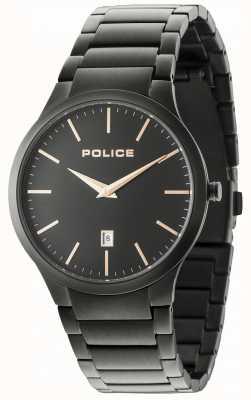 Police Horizon zwarte armband zwarte wijzerplaat 15246JSB/02M