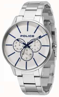 Police Snelle roestvrijstalen armband met zilveren wijzerplaat 14999JS/04M