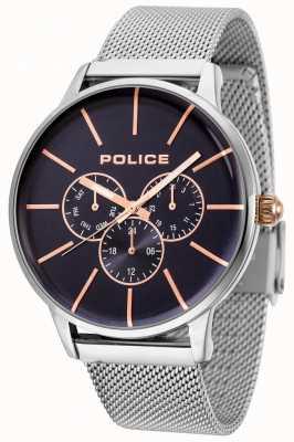 Police Swift roségouden mesh armband met zwarte wijzerplaat 14999JS/03MM