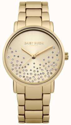 Daisy Dixon Gouden armband met goudkleurige wijzerplaat glitter DD053GM