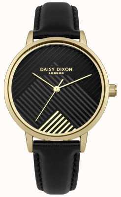 Daisy Dixon Zwarte riem met mat zwarte wijzerplaat DD056BG