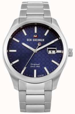 Ben Sherman De ronnie professionele roestvrijstalen armband blauwe wijzerplaat WBS109BSM