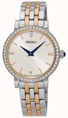 Seiko Damesset bestaande uit twee tone-armbandjes van dames SFQ810P1
