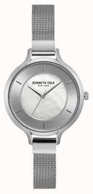 Kenneth Cole New York zilveren wijzerplaat roestvrij stalen mesh armband KC15187001
