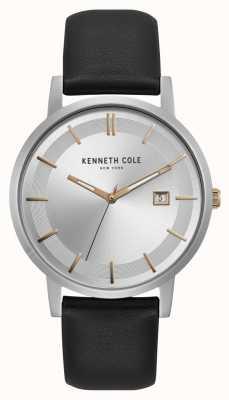 Kenneth Cole New York zilveren wijzerplaat rose gouden markers datumweergave KC15202001
