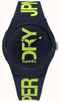 Superdry Marine siliconen met groene tekstprint SYG189UN