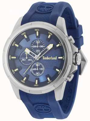Timberland Boxford blauwe siliconen band blauwe wijzerplaat 15253JS/03P