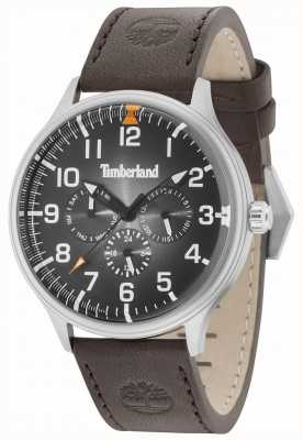 Timberland Blanchard zwarte wijzerplaat donkerbruine leren riem 15270JS/02