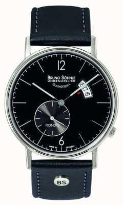 Bruno Sohnle Rondo grote 38mm quartz zwarte wijzerplaat dag en datum weergave 17-13053-761