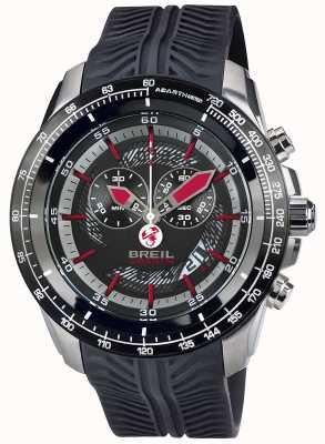 Breil Abarth roestvrijstalen ip chronograaf zwarte en rode wijzerplaat TW1488
