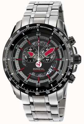 Breil Abarth roestvrijstalen ip chronograaf zwarte en rode wijzerplaat TW1491