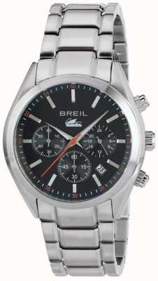 Breil Manta city roestvrij stalen chronograaf zwarte wijzerplaat armband TW1606