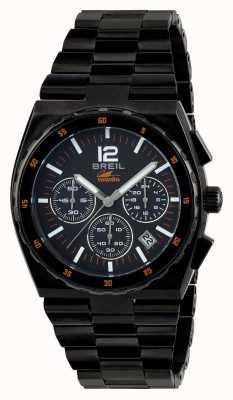 Breil Manta sport RVS ip zwart chronograaf zwarte wijzerplaat TW1686