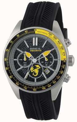 Breil Abarth roestvrij staal ip zwart chronograaf zwart & geel TW1691