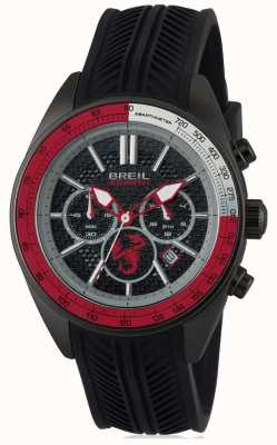 Breil Abarth roestvrij staal ip zwart chronograaf zwart & rood dia TW1693