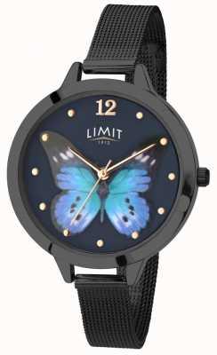 Limit Womens geheime tuin zwarte pvd vlinder horloge 6270.73