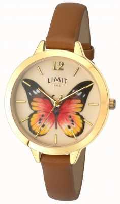Limit Womens geheime tuin vlinder lederen horloge 6275.73
